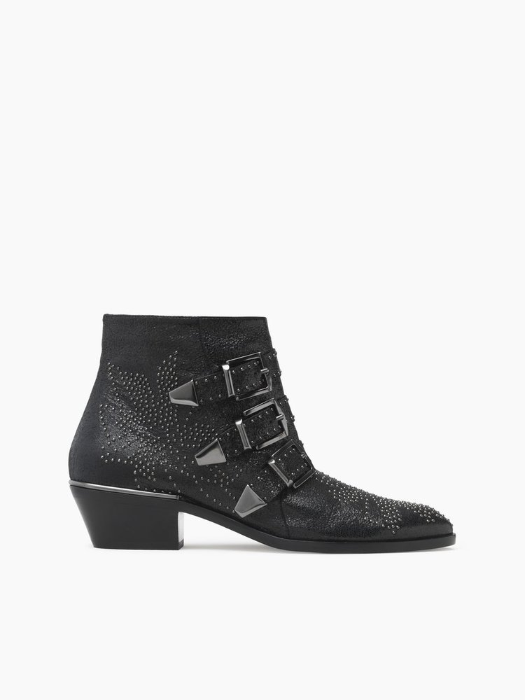 Chloe Susanna 3-Buckle Boot   Black