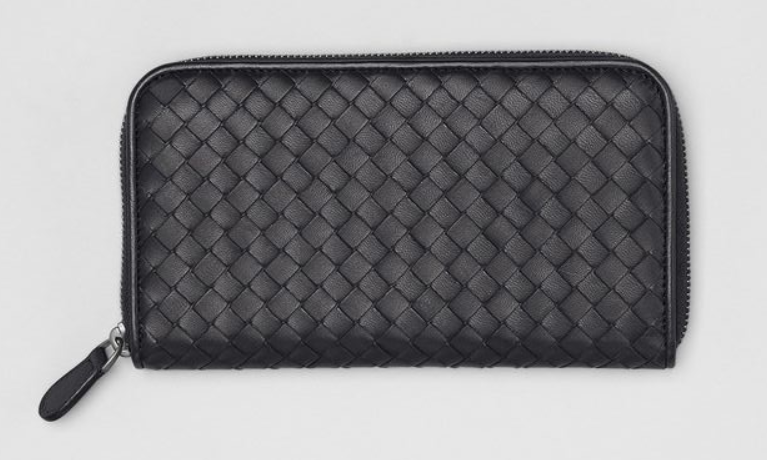 Bottega Veneta Zip Around Wallet   Black