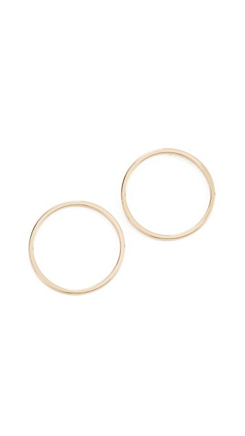 Cloverpost Nimbus Flat Hoop Earrings   Gold