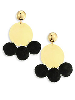 Elizabeth and James Stevie Earrings   Black/Gold