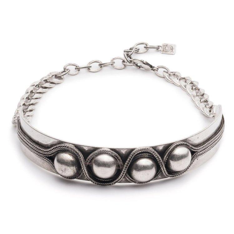 Dannijo Shaida Necklace   Silver