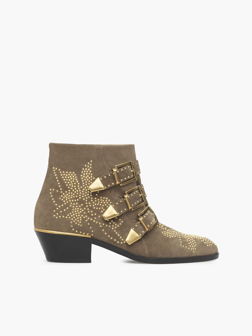 Chloe Susanna 3-Buckle Boot   Grey