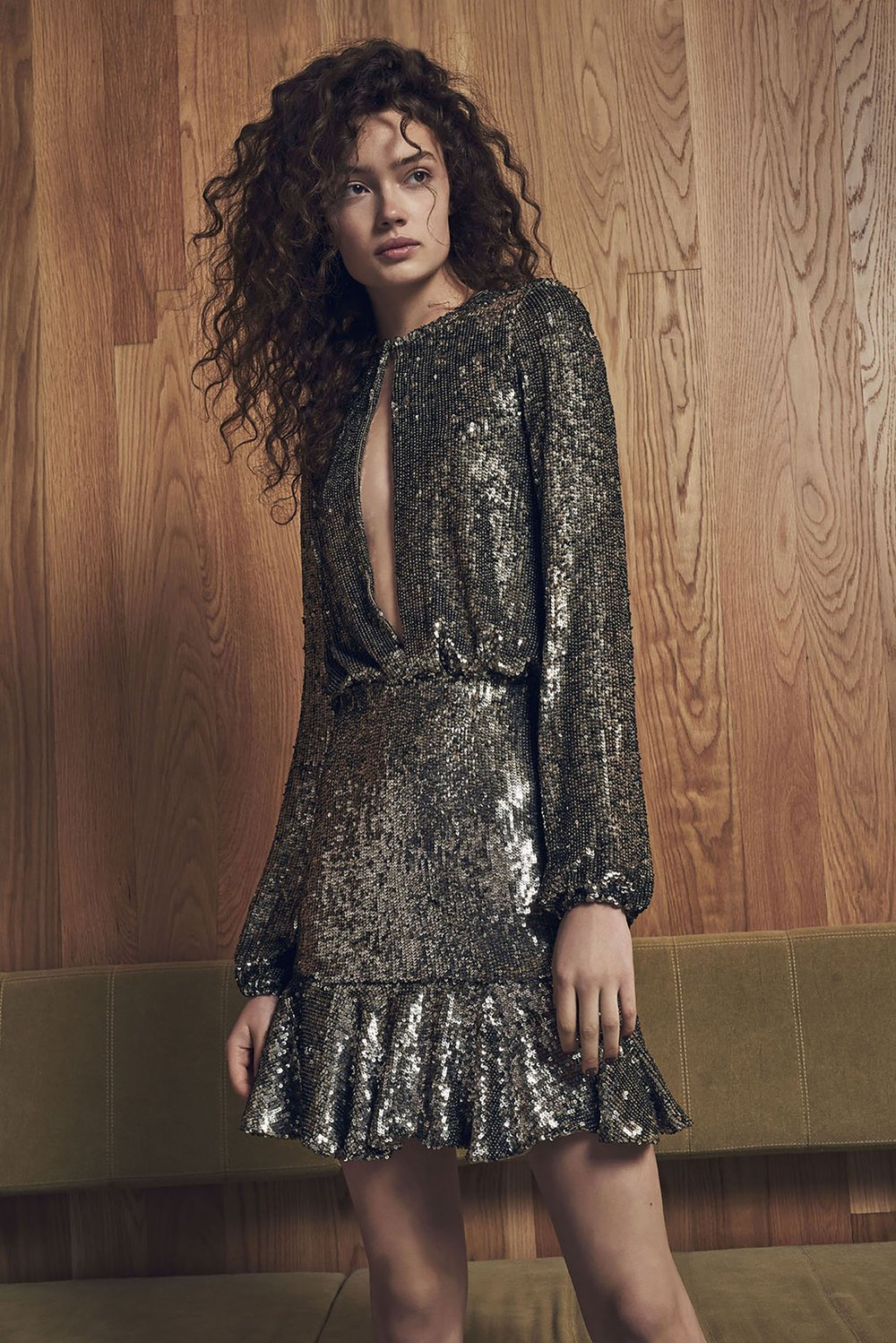 Alexis Tamara Sequin Dress   Silver