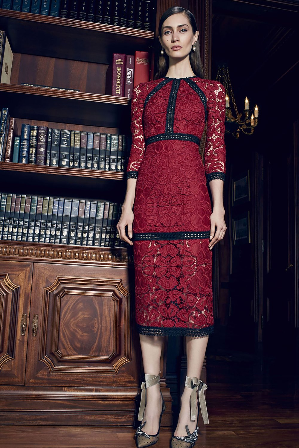 Alexis Kharis Dress   Red/Black