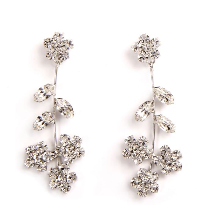 Jennifer Behr Violet Earrings   Silver