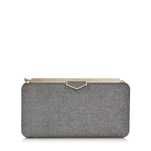 Jimmy Choo Eclipse Clutch   Anthracite