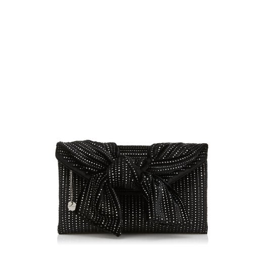 Jimmy Choo Riva Velvet Clutch   Black