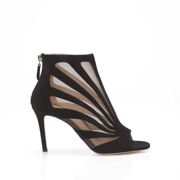 Marion Parke London Mesh Bootie   Black