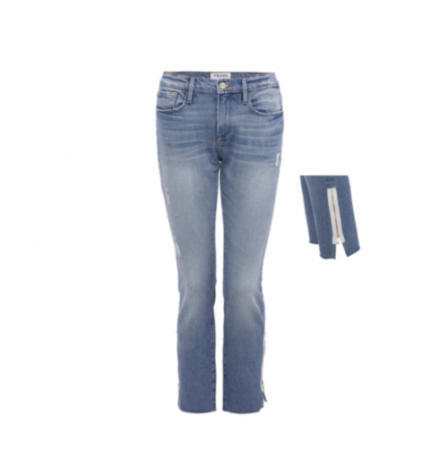 Frame Le Garcon Raw Edge Exposed Zipper Jean — Balliets