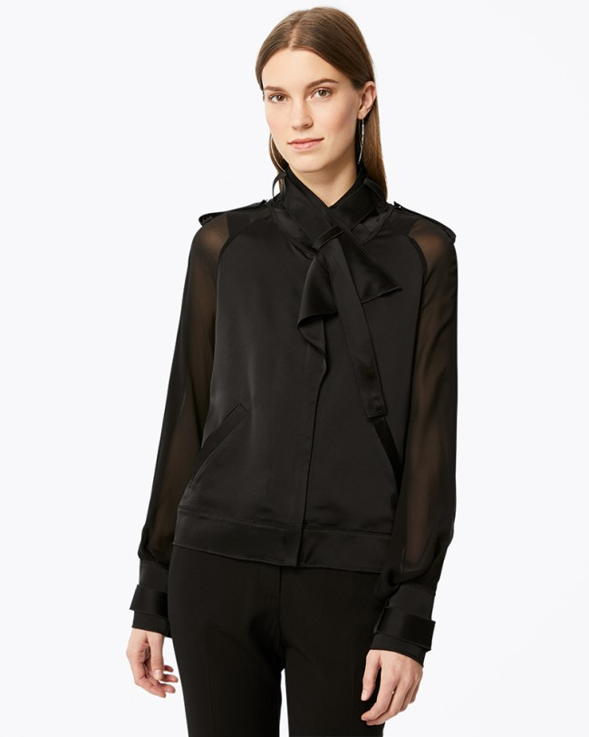 Ramy Brook Cali Drapey Jacket (closed)   Black