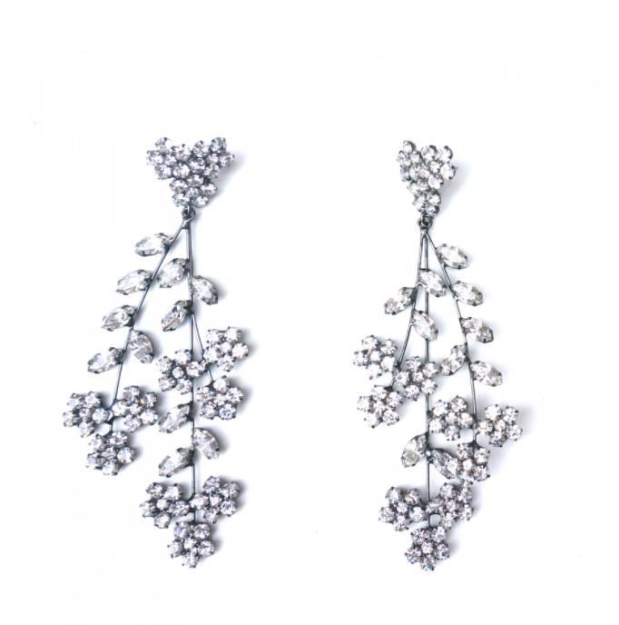 Jennifer Behr Violetta Chandelier Earrings   Silver