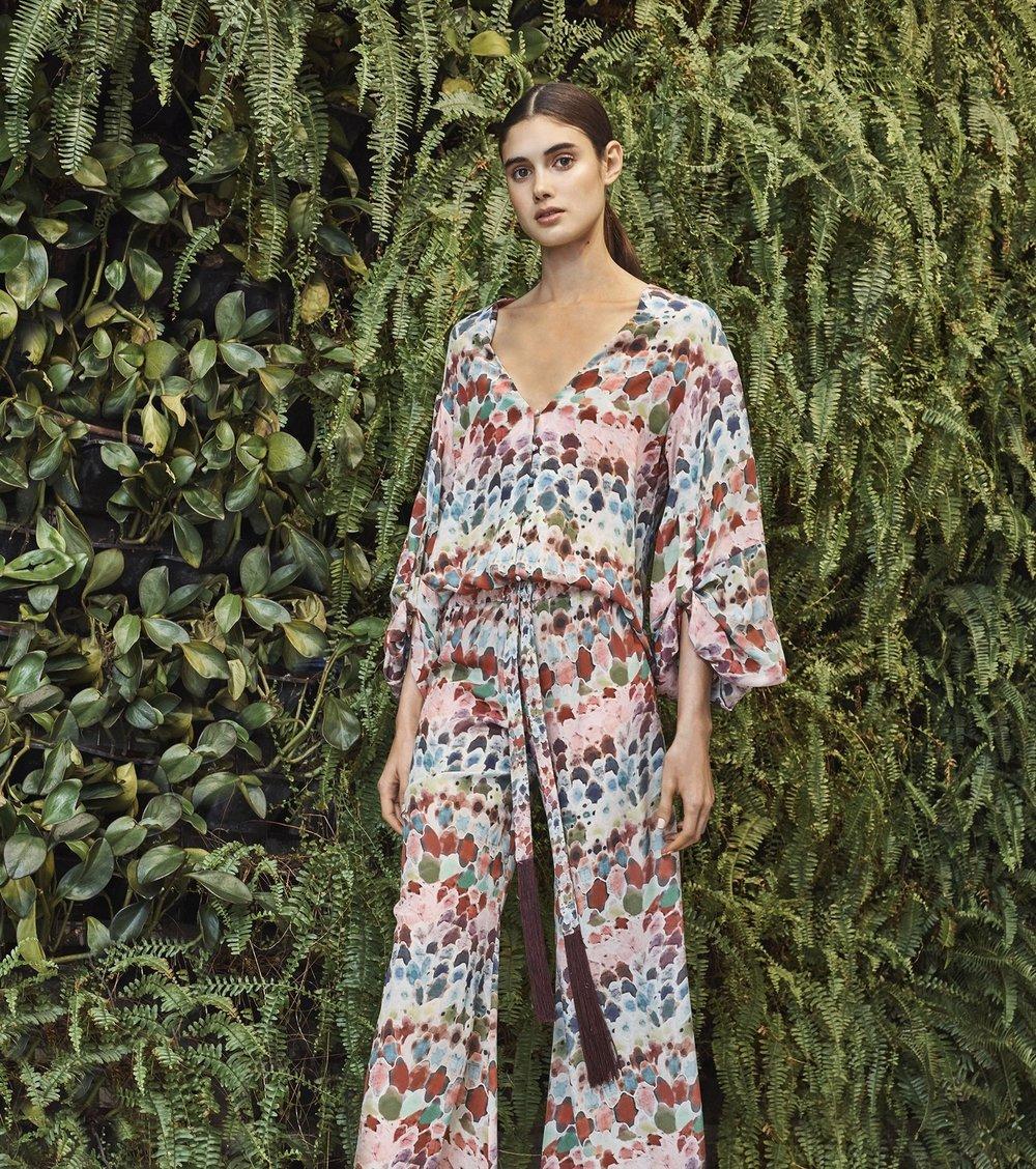 Alexis Charlie Silk Watercolor Top   Multi
