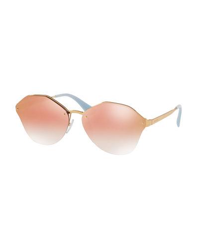 dd283f4652 Prada Cinema Antique Gold Pink Gradient Sunglasses — Balliets