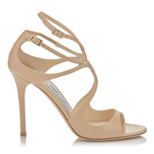 Lang Patent 100mm Strappy Sandal   Tan