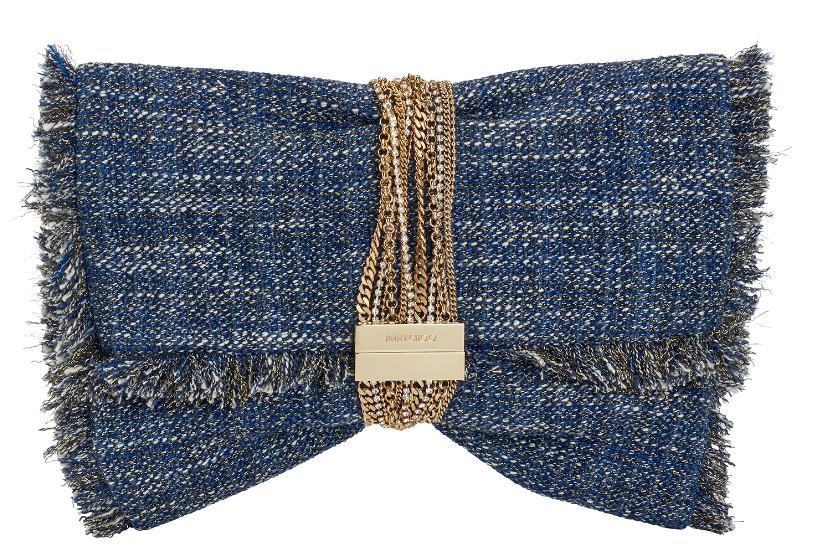 Chandra Clutch   Metallic Tweed