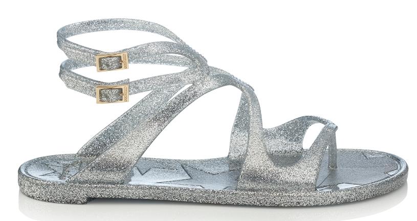 Lance Jelly Sandal   Silver