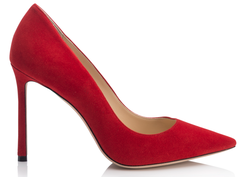 Rommy 100mm Suede Stiletto   Red