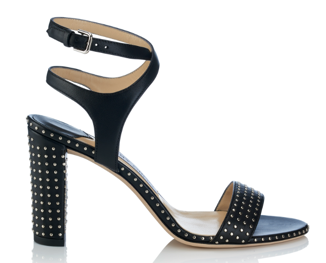 Marine Heel with Micro studs   Black/Silver