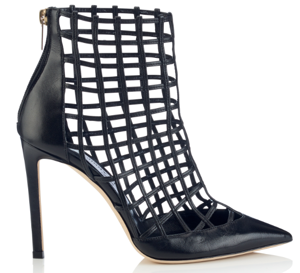 Sheldon Grid Pattern Heel   Black