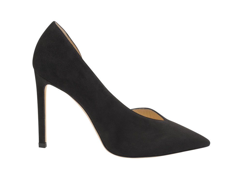 Sophia Suede Pump   Black