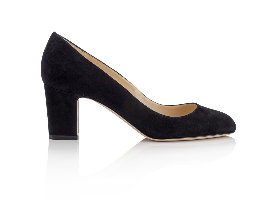 Billie Suede Pump   Black