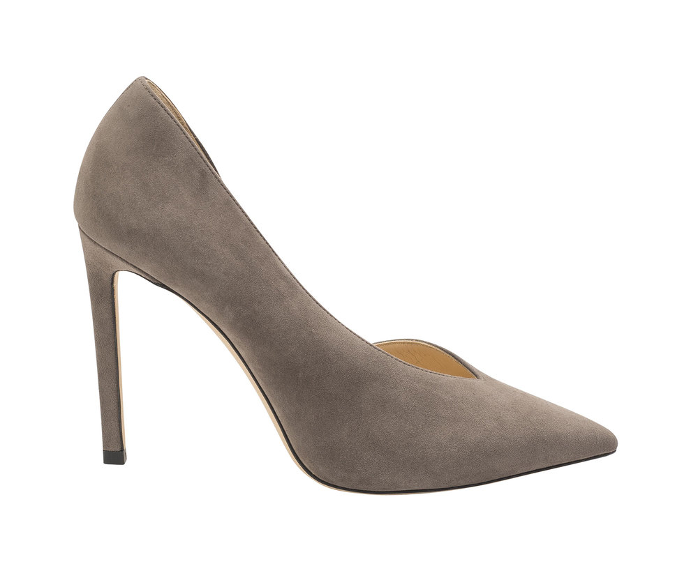 Sophia Suede Pump   Dark Grey