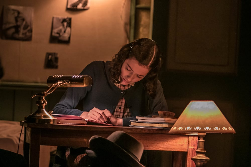 Anne writes in her diary
