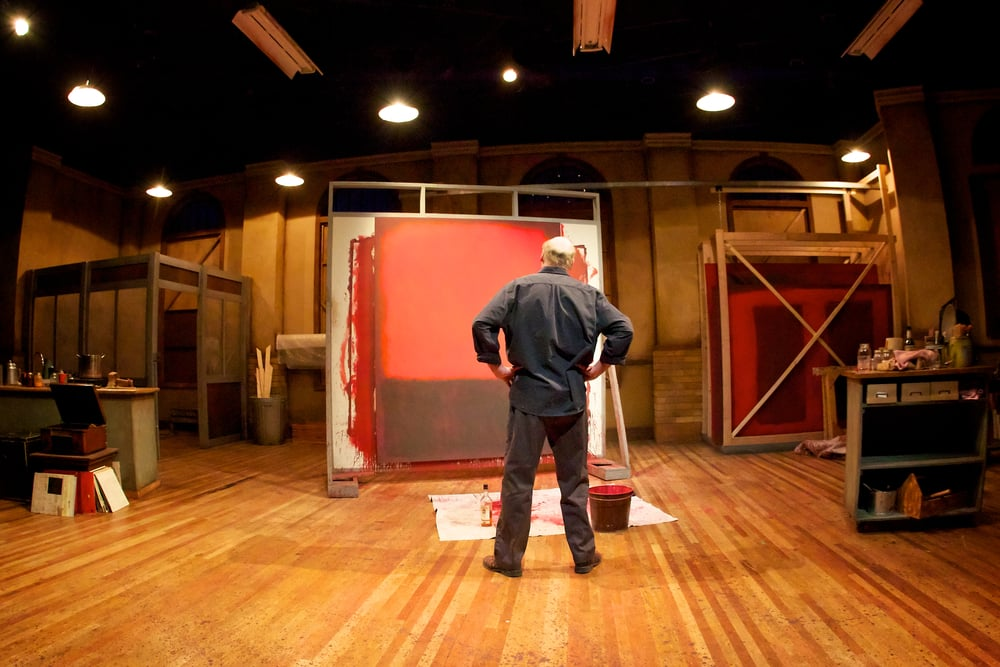 Rothko studies the painting