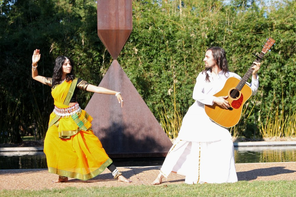 Together Tyagaraja and Gunjen have toured in India and US through performance of original music, yoga/meditation and dance.