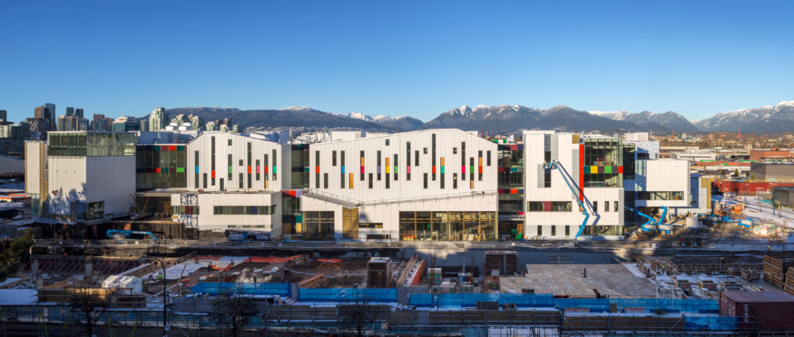 The newly completed Emily Carr University campus in Vancouver.