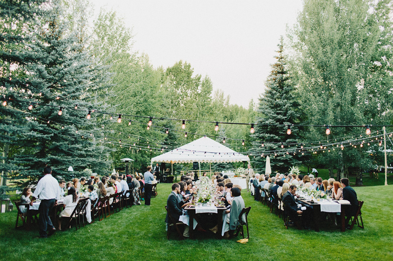 Backyard Wedding, Sun Valley, Idaho