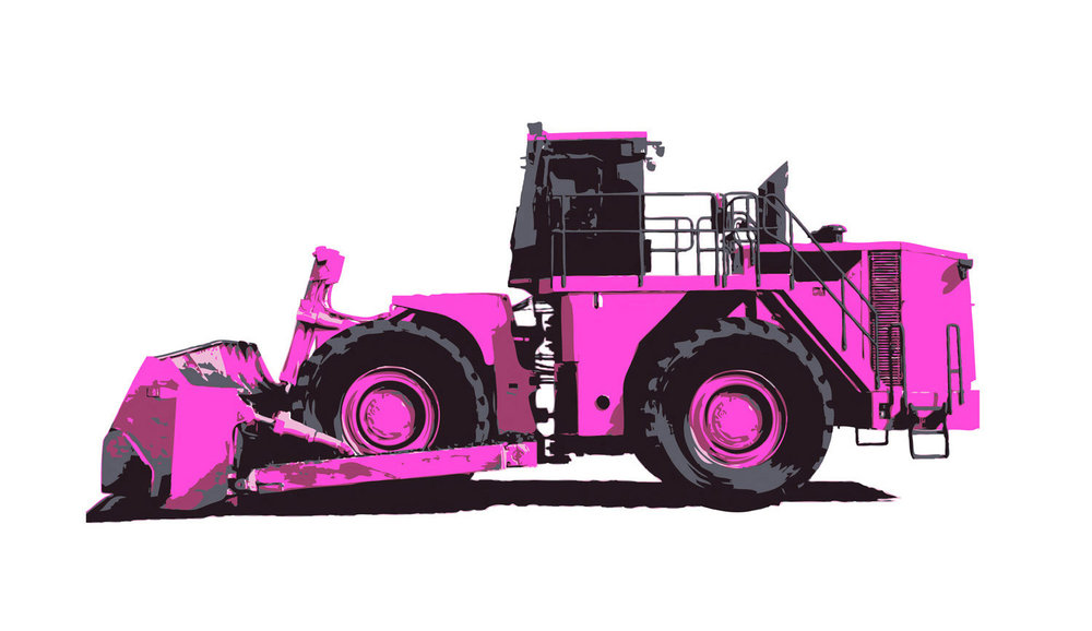 TERRAIN WORK LOGO_ HOT PINK DOZER