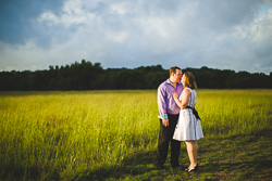 Engagement in an open field