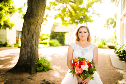 barr mansion bride with golden sunlight