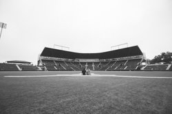 engagement session at Disch-Falk Field