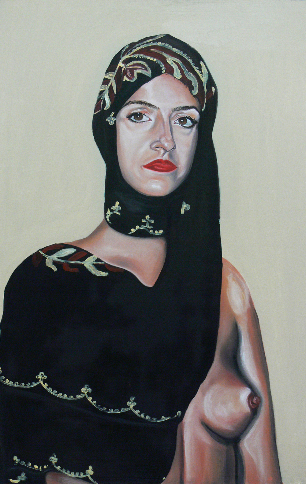 Self-Portrait with my Mother's Headscarf and Breast of Kate Moss