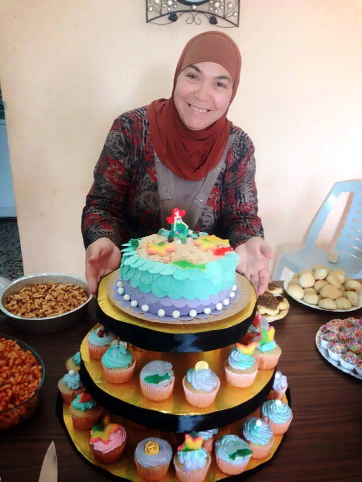 """Me and an under-the-sea themed cake."" Picture taken by Samira Mashni"