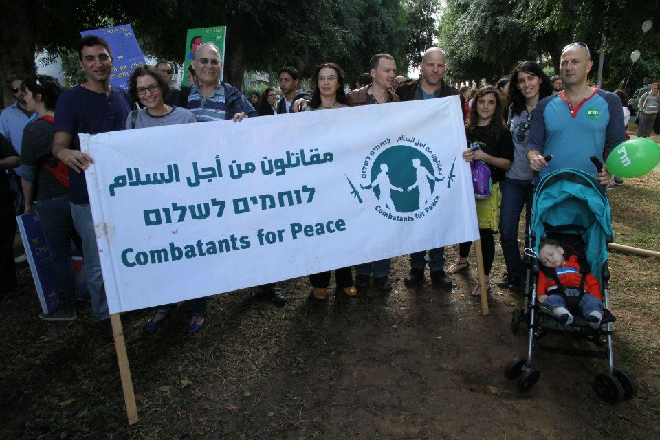 With peace activists from Combatants for Peace. Image by Combatants for Peace