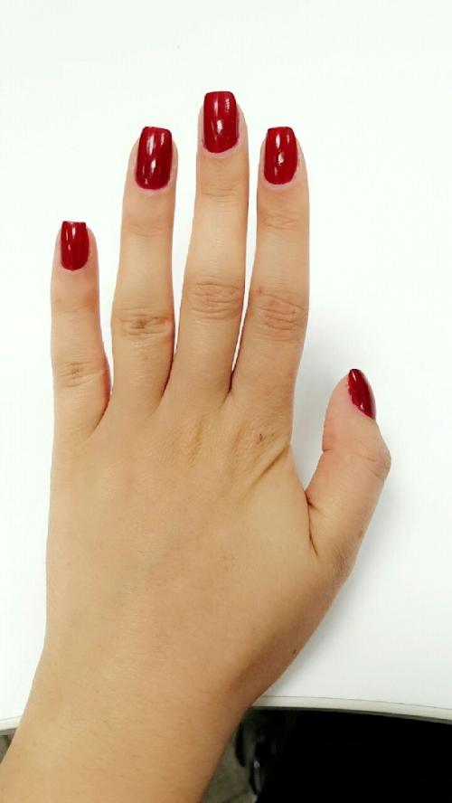 Interviewee's hand