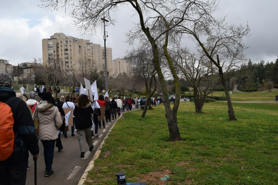 Women Wage Peace demonstration held in 2014. Image credit: Irit Hakim