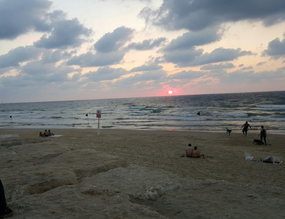"""Yafo Beach that I really like. I'm there a lot in the summer."""