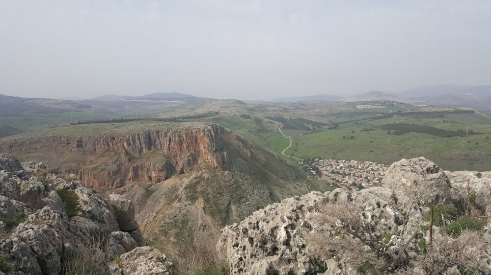 """Mount Arbel in the North that I travelled to with my students a month ago"""