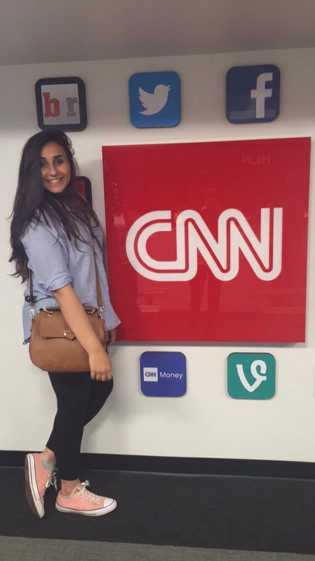 """At CNN in Atlanta, my dream place"""