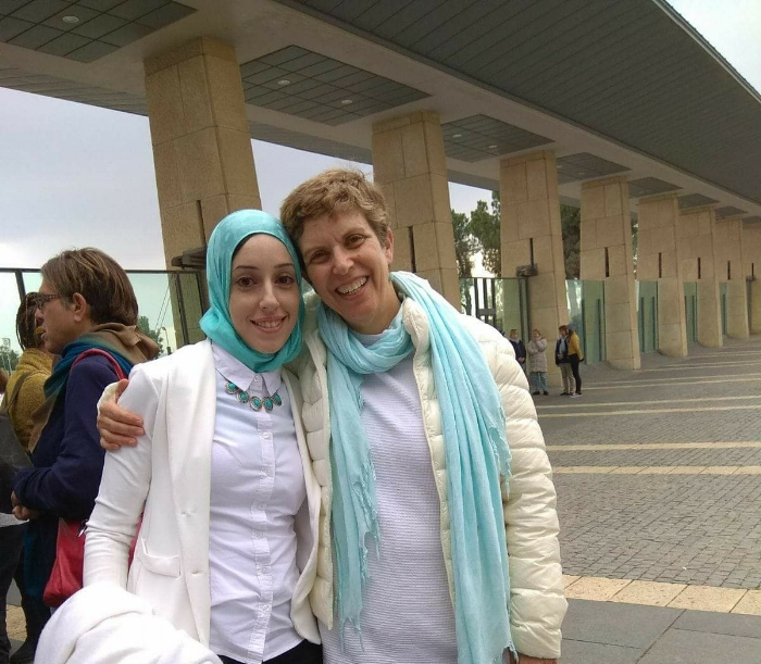 """Me and the dear Yael Adami from Women Wage Peace at a visit of the Knesset."""