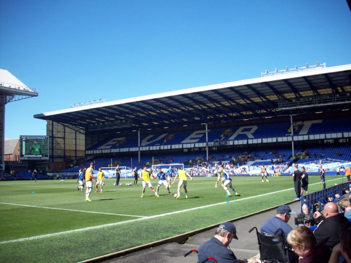"""Goodison Park, the home of Everton Football Club"