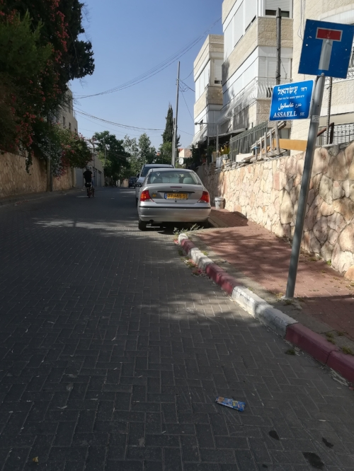 """Assaell Street in the Abu Tor neighbourhood of Jerusalem where Jews live on one side and Palestinians on the other."""
