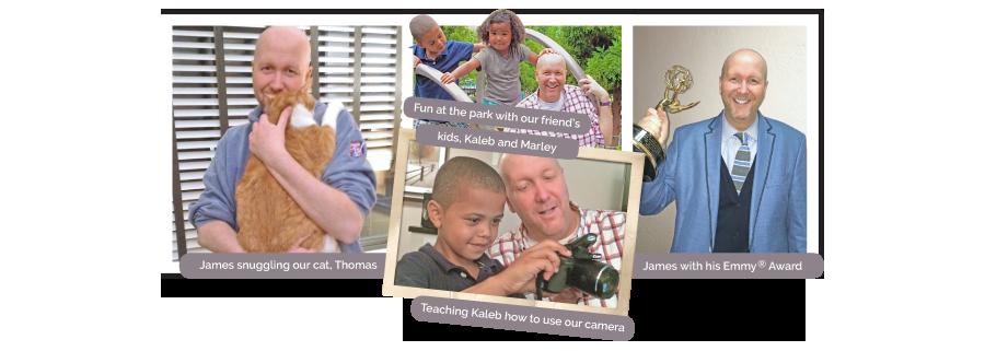 Meet James open adoption