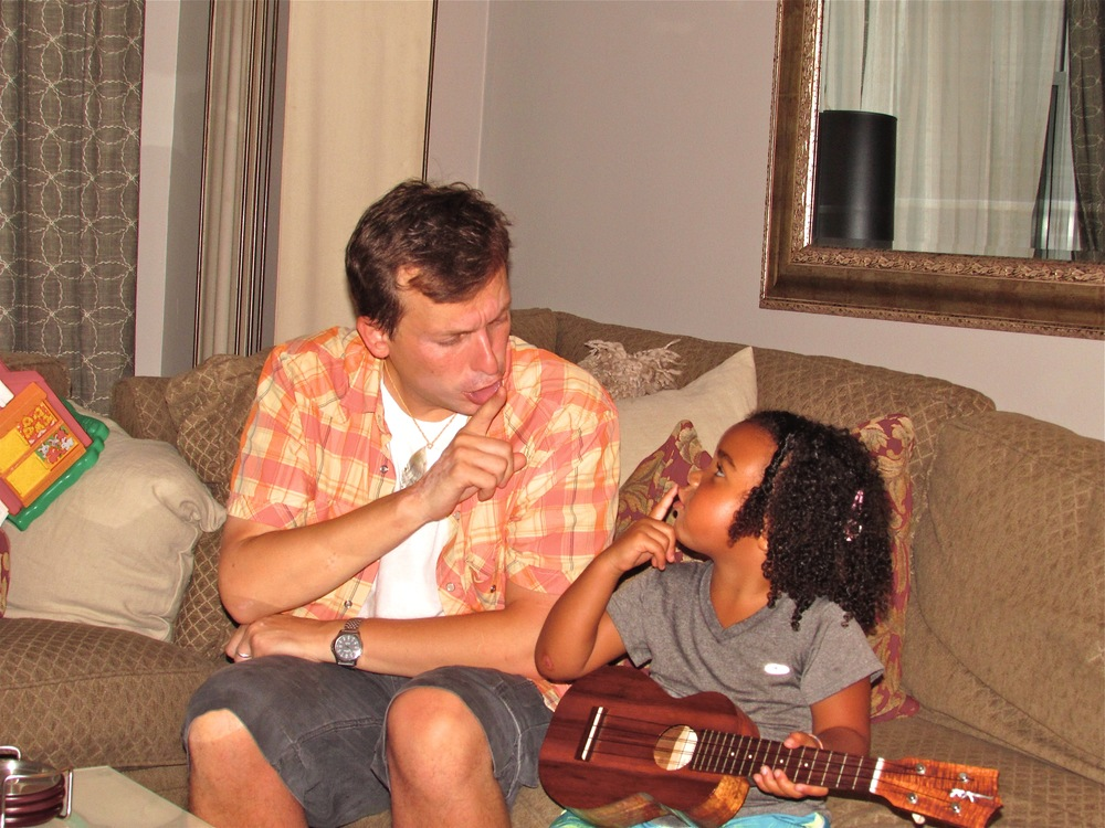 Jason teaching Marley a fun Hawaiian song