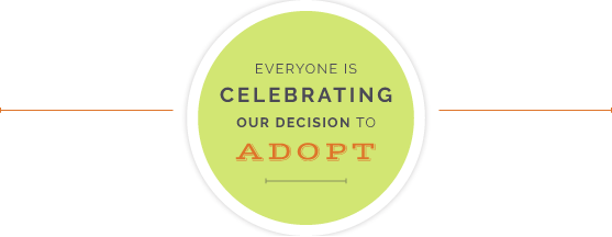 Everyone is celebrating our decision to adopt James and Jason open adoption