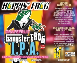 He's right, this frog is timeless, it's even a gangster on the label of my personal favorite hoppy beer from Hoppin Frog.